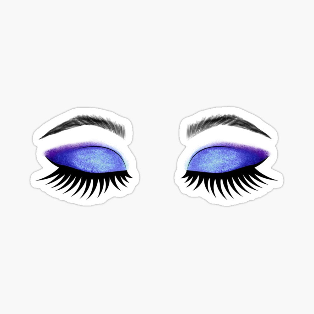 Lashes and Eyeshadow  Sticker