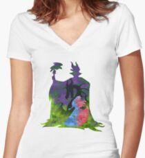 Once Upon a Dream - Splash Dress Women's Fitted V-Neck T-Shirt