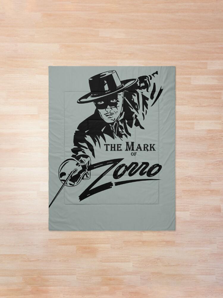 Alternate view of The Mark of Zorro Comforter