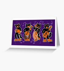 Scat Cats Greeting Card