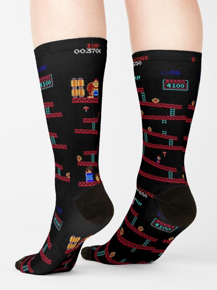 Alternate view of Donkey Kong Arcade Socks