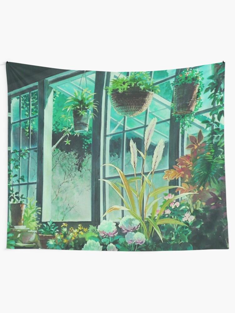 Alternate view of Studio Ghibli Plants Tapestry