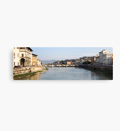 View From The Ponte Vecchio - Florence,  Italy Canvas Print