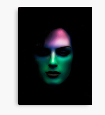 Colour of face Canvas Print