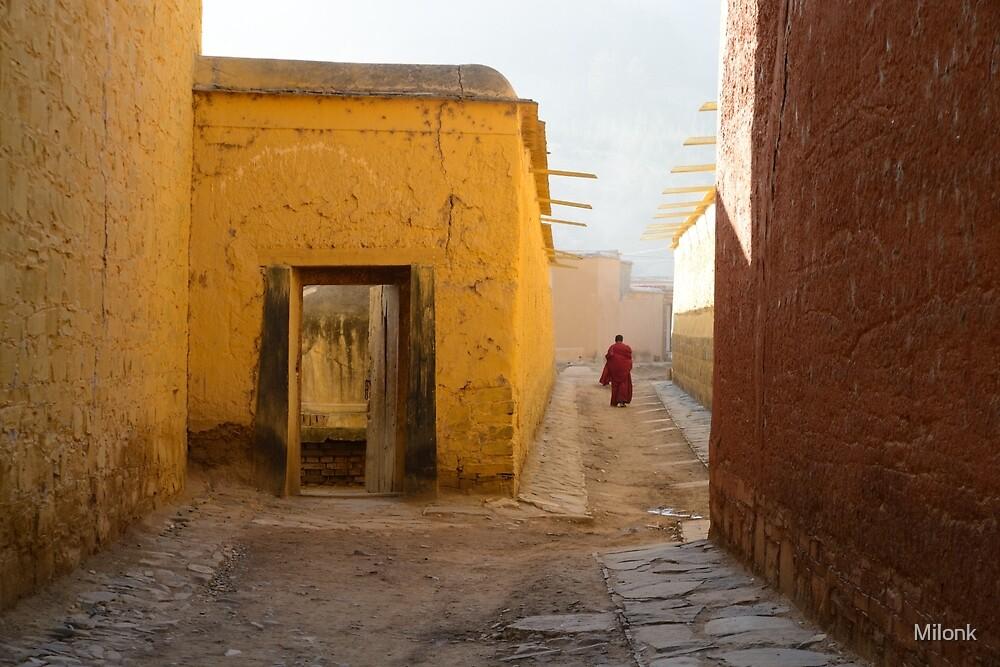 Tibetan monastery by Milonk