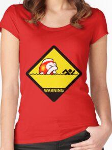Big Bertha attack Hazard Women's Fitted Scoop T-Shirt
