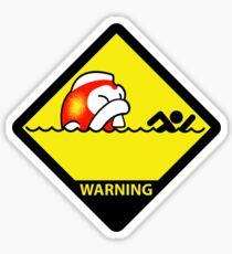 Big Bertha attack Hazard Sticker