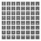 I Ching hexagrams by Rupert Russell