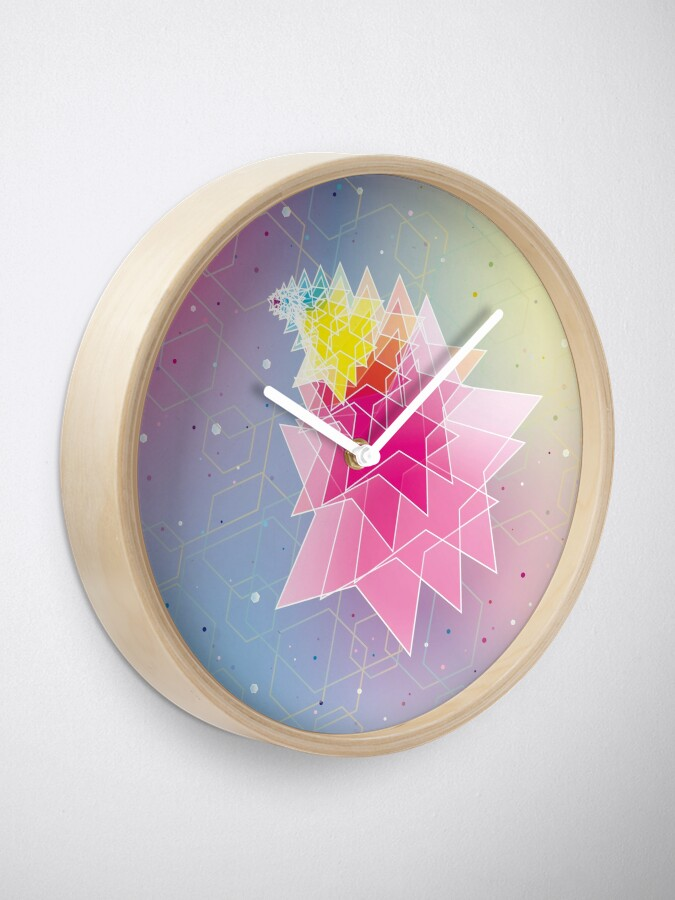 Alternate view of Stars and Hexagons Clock