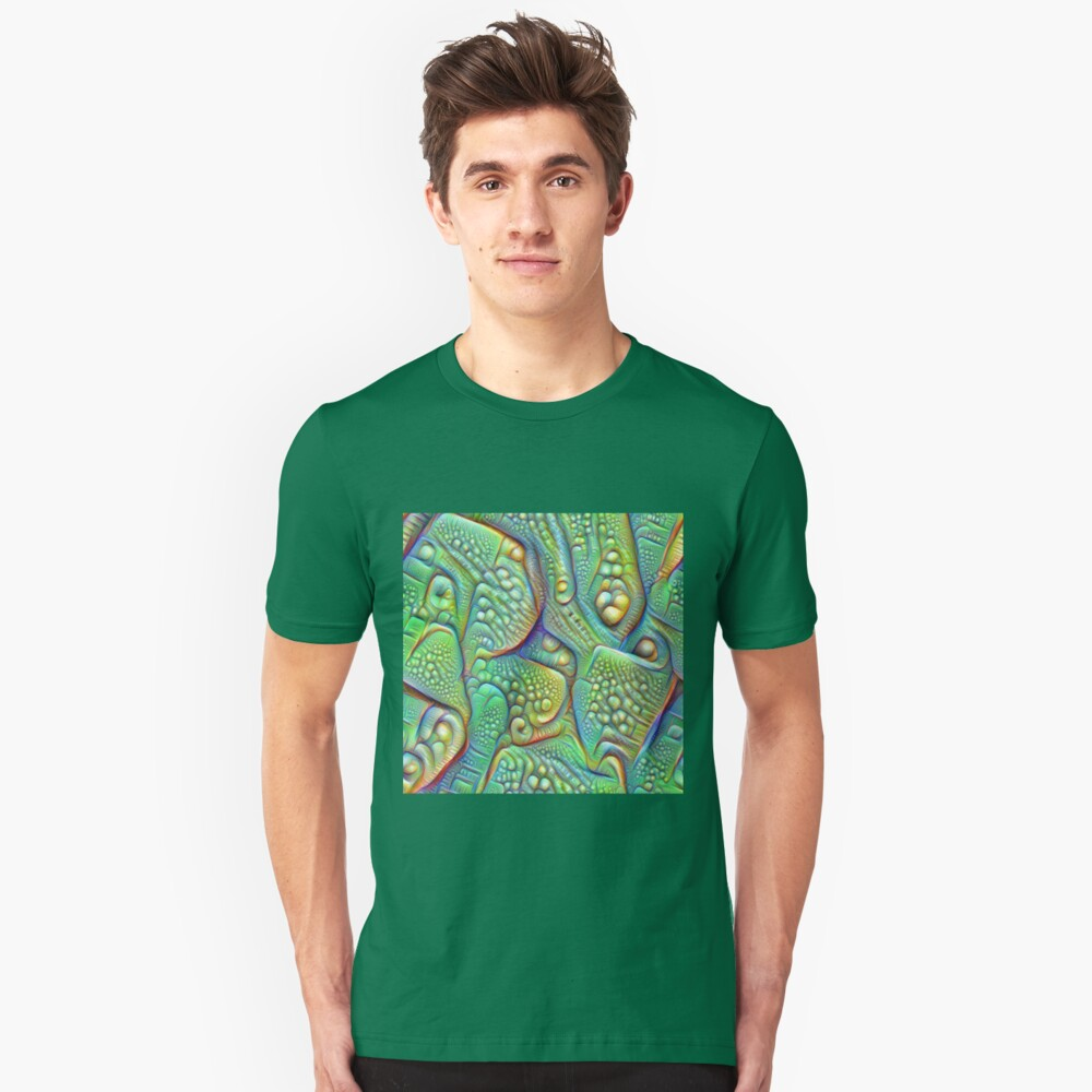 Abstraction #DeepDream Slim Fit T-Shirt
