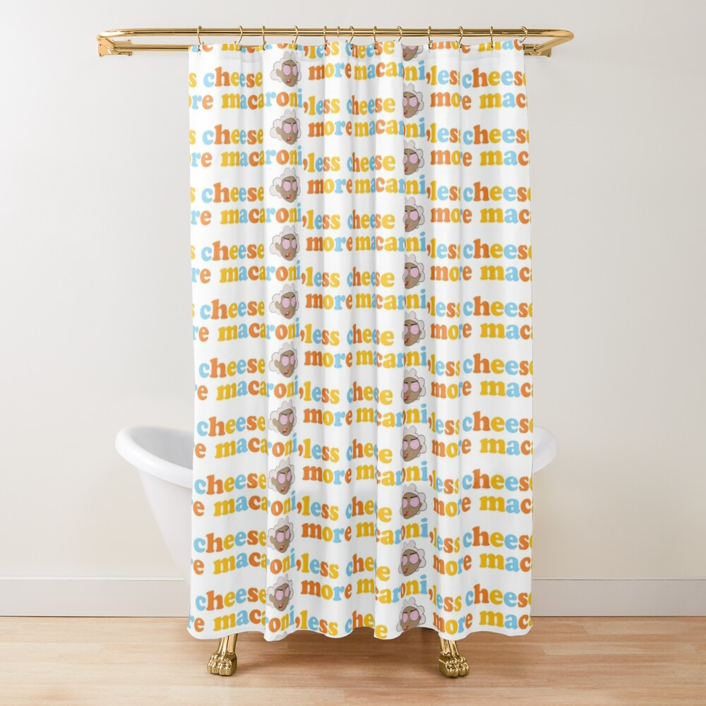 "Courage the Cowardly Dog™ ""More Macaroni, Less Cheese"" Shower Curtain"