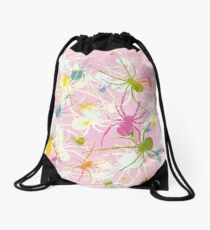 Pink Widow Drawstring Bag