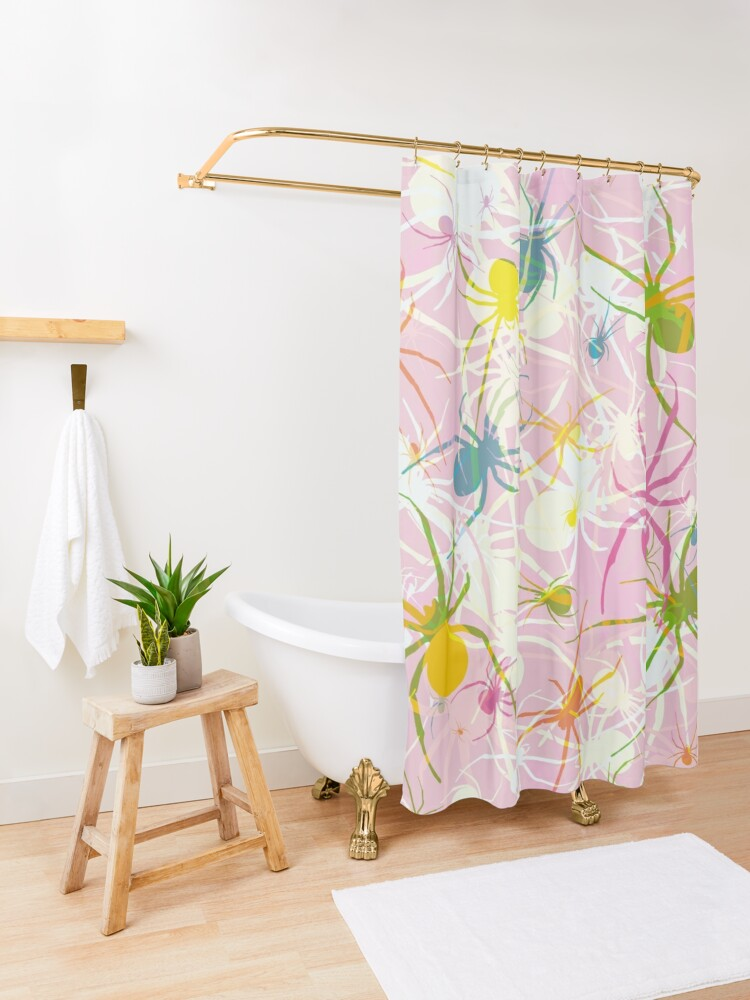 Alternate view of Pink Widow Shower Curtain
