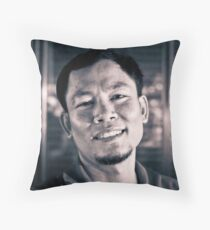 The Street Bartender. Throw Pillow