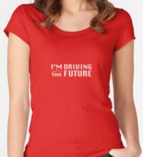 I'm Driving The Future - Model S Women's Fitted Scoop T-Shirt