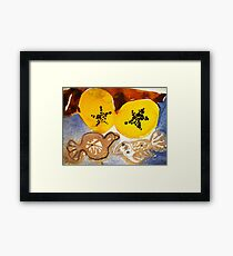 paw paw and clay birds Framed Print