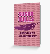Sugar Quills - Harry Potter Greeting Card