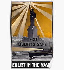 Enlist In The Navy -- For Liberty's Sake Poster