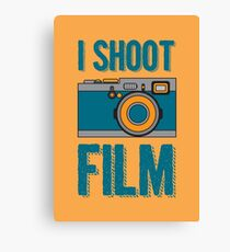 I Shoot Film - Vintage Camera Design Canvas Print