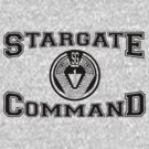 Stargate Command Athletics - black by dopefish