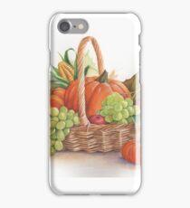 Thanksgiving basket iPhone Case/Skin