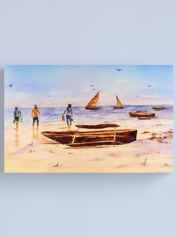Alternate view of Zanzibar Forzani beach Canvas Print