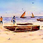 Zanzibar Forzani beach by Sher Nasser