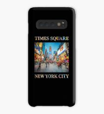 Times Square Sparkle (poster on black) Case/Skin for Samsung Galaxy