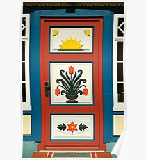 MVP39 Decorative Darss door,  Prerow, Germany. Poster