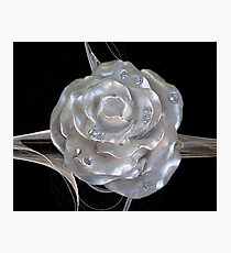 Jeweled Rose Photographic Print