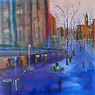 Swanston Street Melbourne VIC Australia - oil on canvas by Margaret Morgan (Watkins)