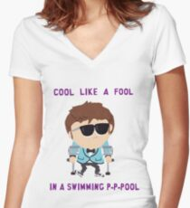 Jimmy is cool Women's Fitted V-Neck T-Shirt