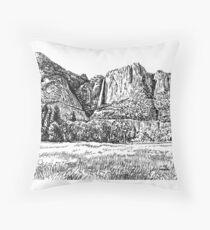 Yosemite Falls, CA Throw Pillow
