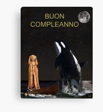 Scream with Orca Italian Canvas Print