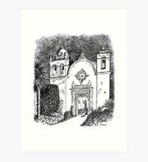 Carmel Mission, California Art Print