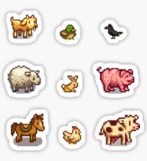 Pixelated Animals Sticker