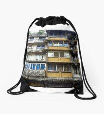 Chinese Architecture Drawstring Bag