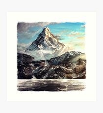 """The Lonely Mountain"" Painting Art Print"