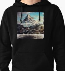 The Lonely Mountain Painting Pullover Hoodie