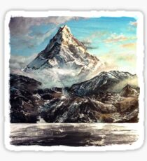 """""""The Lonely Mountain"""" Painting Sticker"""