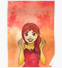 Flamme Prinzessin Aquarell Fanart Poster