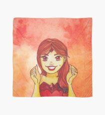 Flame Princess Watercolor Fanart Scarf