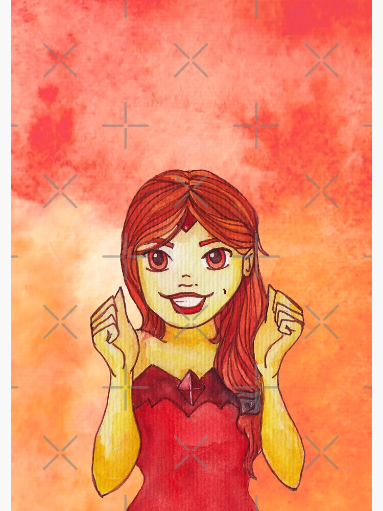 Flame Princess Watercolor Fanart by missdachner