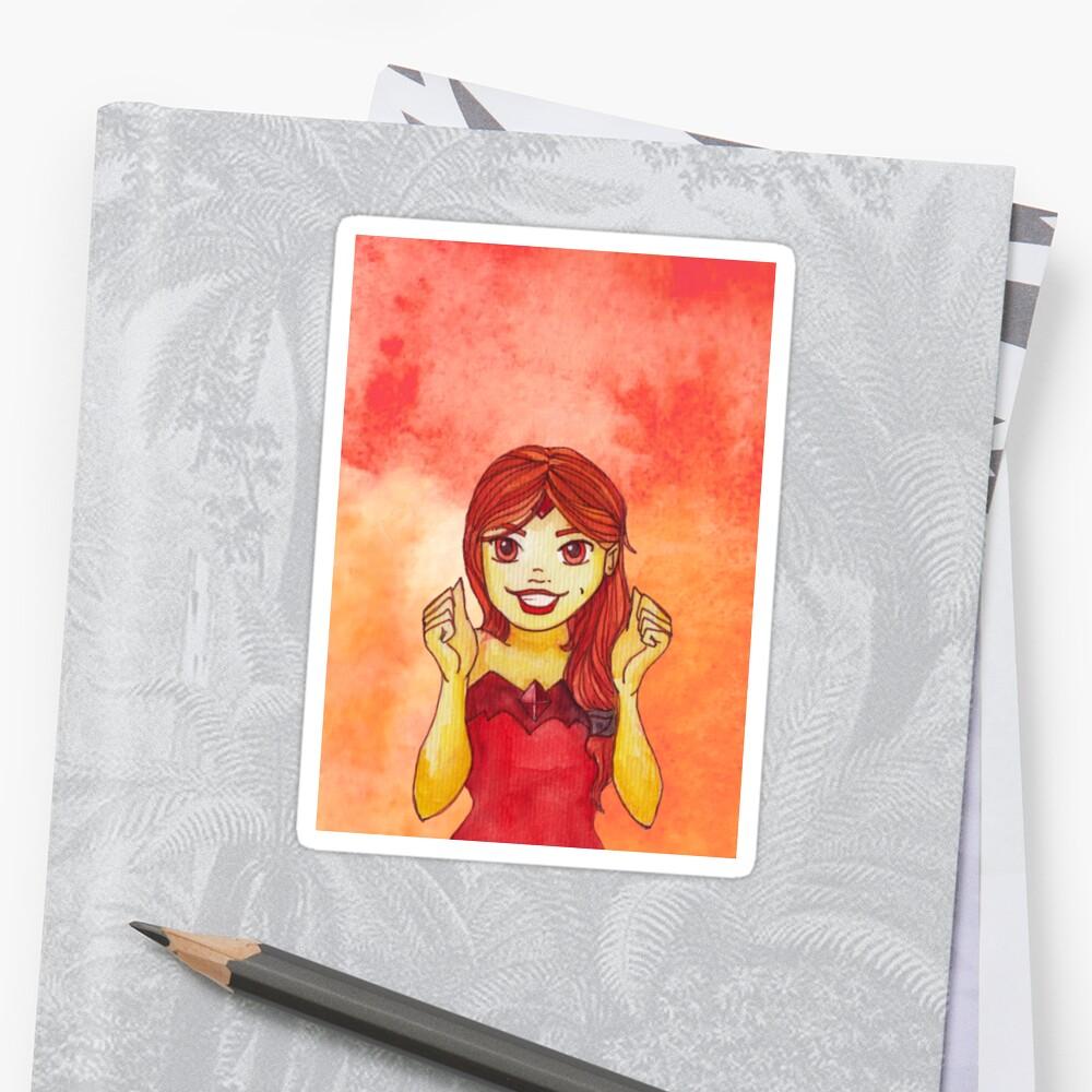Flame Princess Watercolor Fanart Sticker