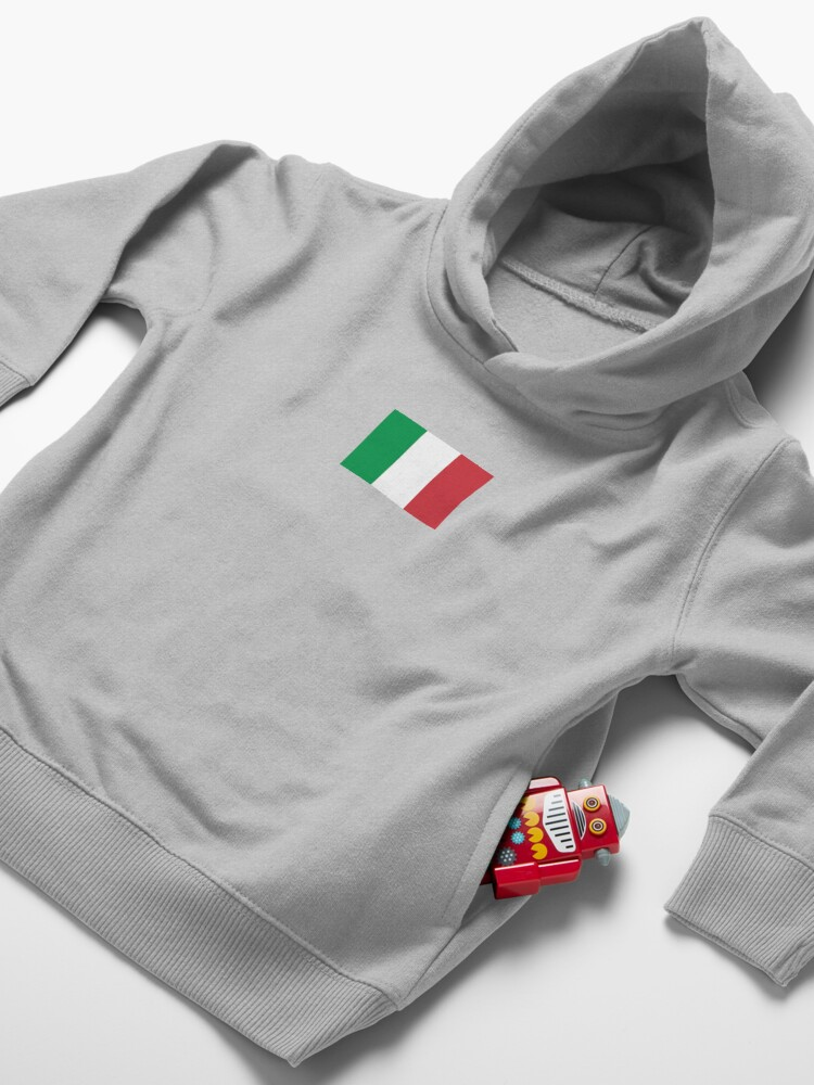 Alternate view of Italy Flag - Italian T-Shirt Toddler Pullover Hoodie