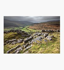 Hubberholme From Buckden Out Moor Photographic Print