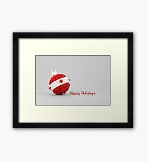 Happy Holidays Framed Print