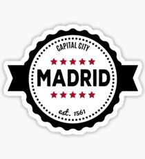 Madrid capital city  Sticker
