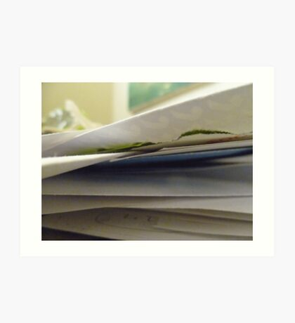02-24-2011  Papers, Lots of Papers Art Print