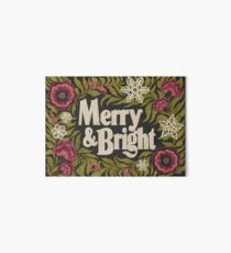 Merry and Bright Art Board Print